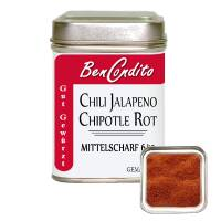 Rote Jalapeno Chili Chipotle gemahlen