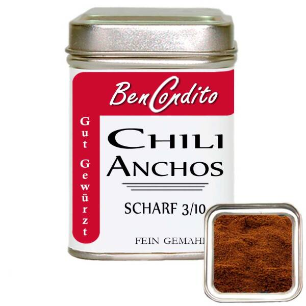 Ancho Chili gemahlen 80 gr. Dose