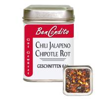 Rote Jalapeno Chili Chipotle geschrotet 70 Gr. Dose